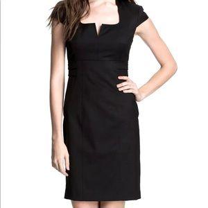 Ted Baker Agnes black cap sleeve sheath pencil dress slimming suit dress